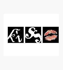 Kiss and lips Photographic Print