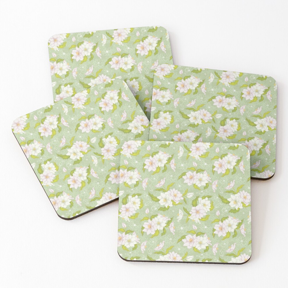 Floral on Coasters (Set of 4)