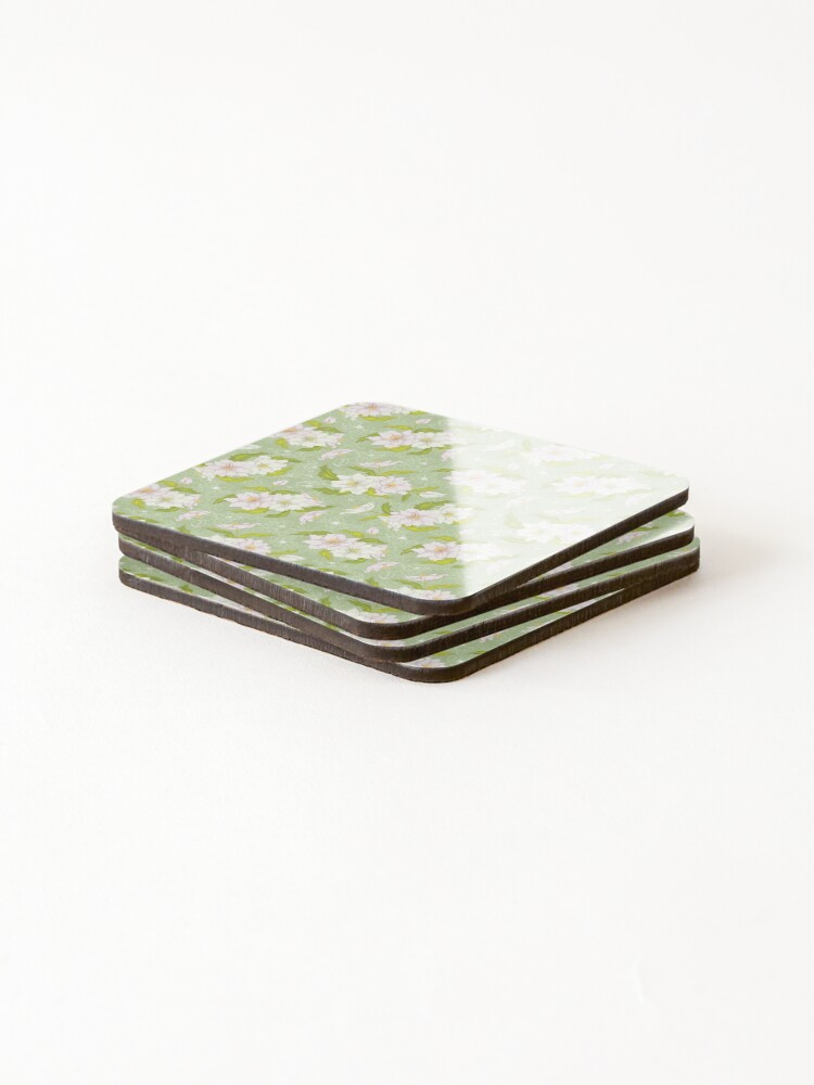 Alternate view of Floral on Coasters (Set of 4)