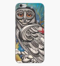 snowy owl with red star iPhone Case