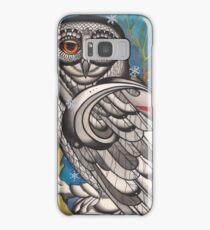 snowy owl with red star Samsung Galaxy Case/Skin