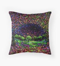 The Elfin Meadow by John E Metcalfe Throw Pillow