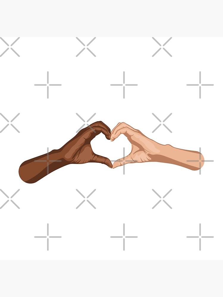 Heart hands together - black lives matter by RyanDraws