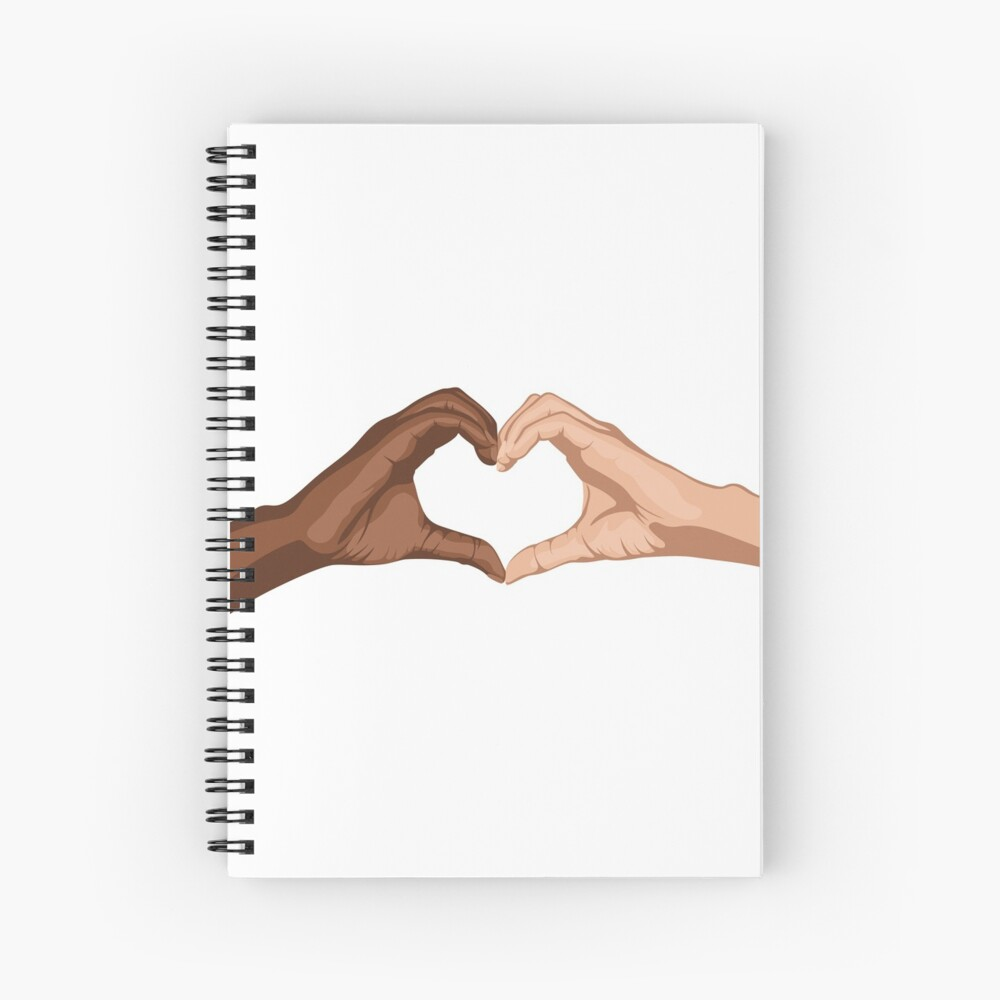 Heart hands together - black lives matter Spiral Notebook