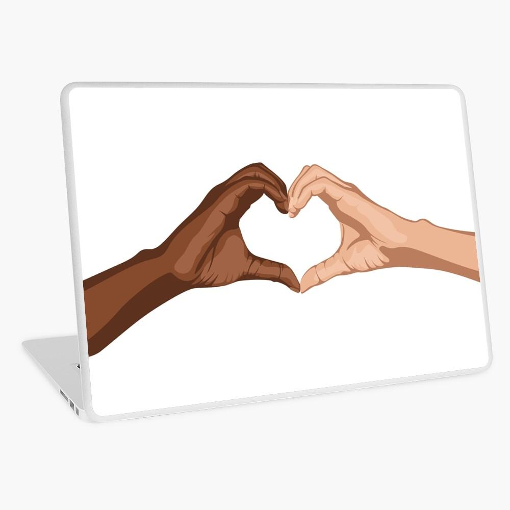 Heart hands together - black lives matter Laptop Skin
