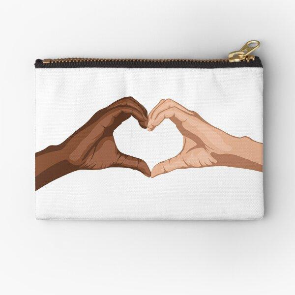 Heart hands together - black lives matter Zipper Pouch