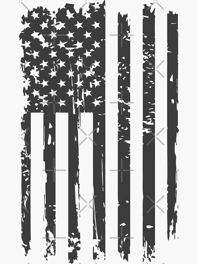 USA American grunge flag black color tshirts by EliteBro