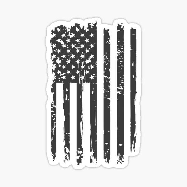 USA American grunge flag black color tshirts Sticker