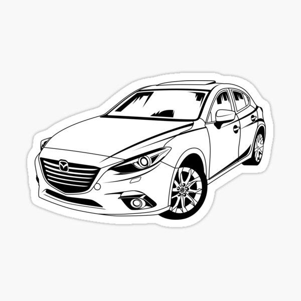 Es la tercera generación de Mazda 3 Pegatina
