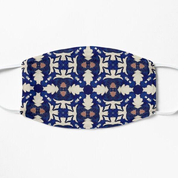 Intense Blue Pattern 14 Flat Mask