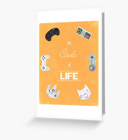 The Circle Of Video Games Greeting Card