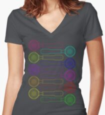 Portafilter Colors Women's Fitted V-Neck T-Shirt