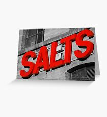 Salts. Greeting Card