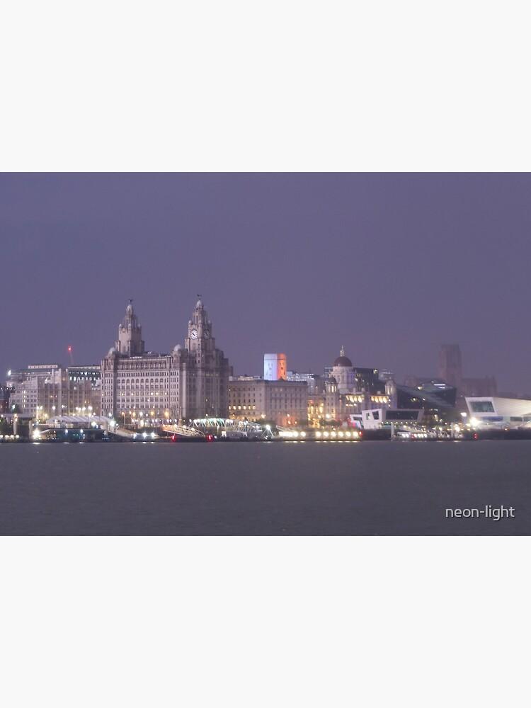 Lightning Illuminates Liverpool by neon-light
