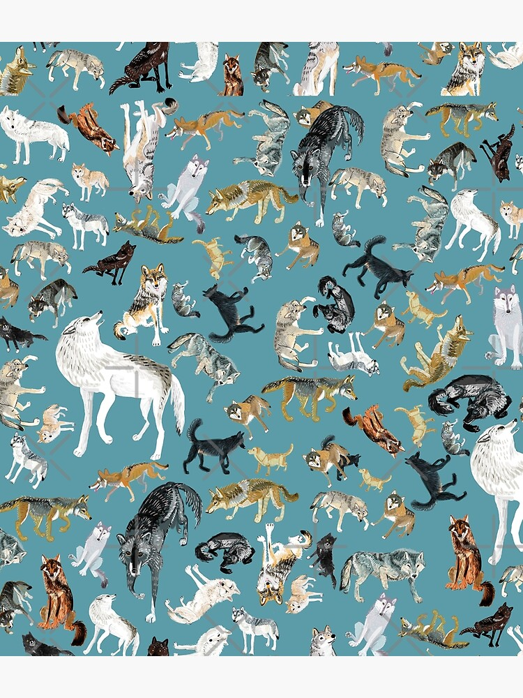 Wolves of the World pattern 2 by belettelepink