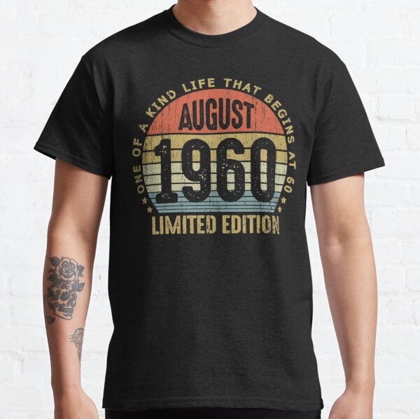 Aged To Perfection Born In 1960 60th Birthday//Gift Mens Printed T-Shirt
