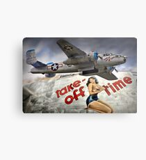 Take Off Time Metal Print