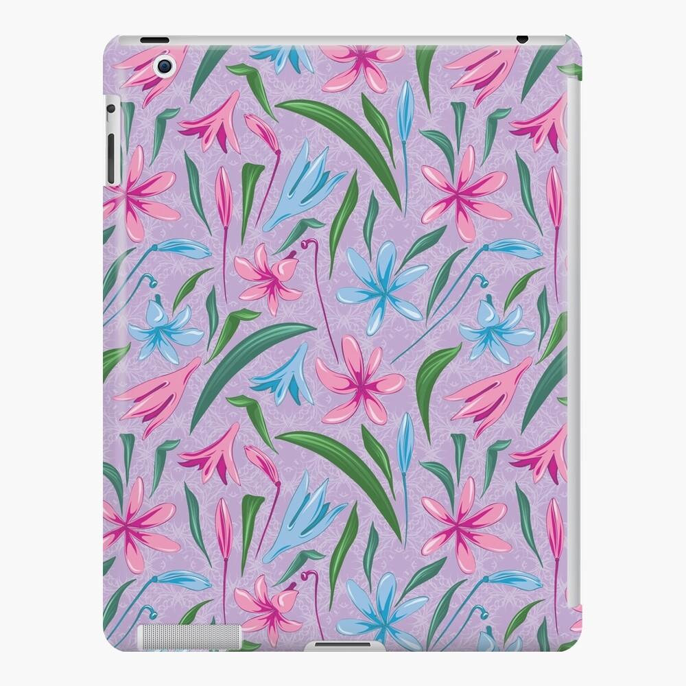 Delicate floral prints on iPad Case