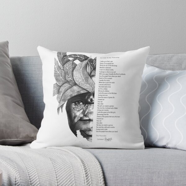 An Ode To My Township Throw Pillow