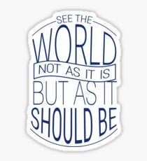 See The World #3 Sticker