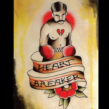 Heart Breaker iphone Case by NateLuna