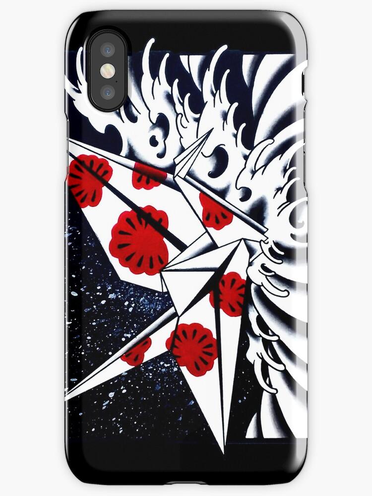 Origami Crane iphone case by Nate Luna