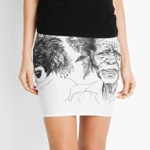 The Great Sunmen - By Siphiwe Ngwenya Mini Skirt