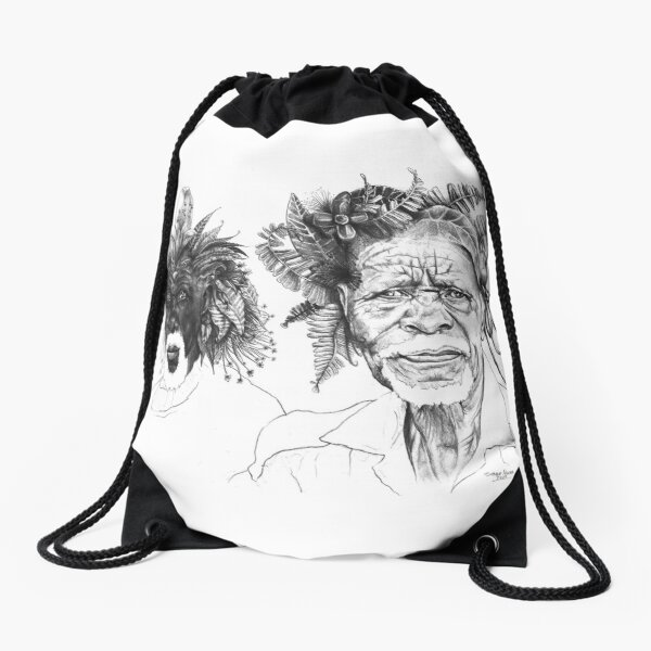 The Great Sunmen - By Siphiwe Ngwenya Drawstring Bag