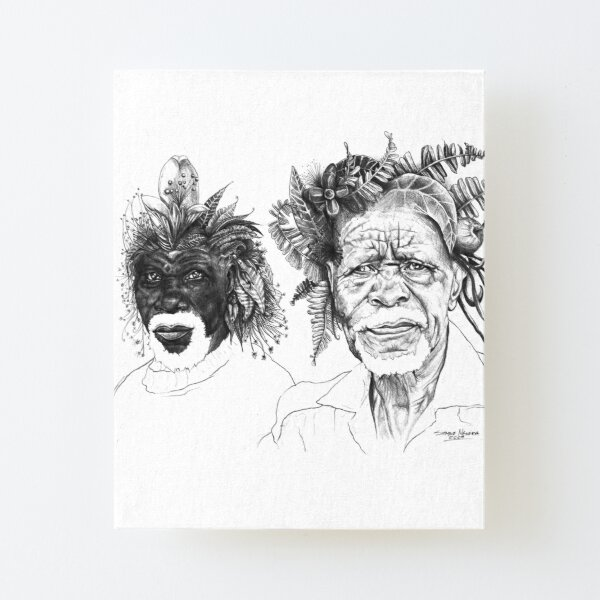 The Great Sunmen - By Siphiwe Ngwenya Canvas Mounted Print