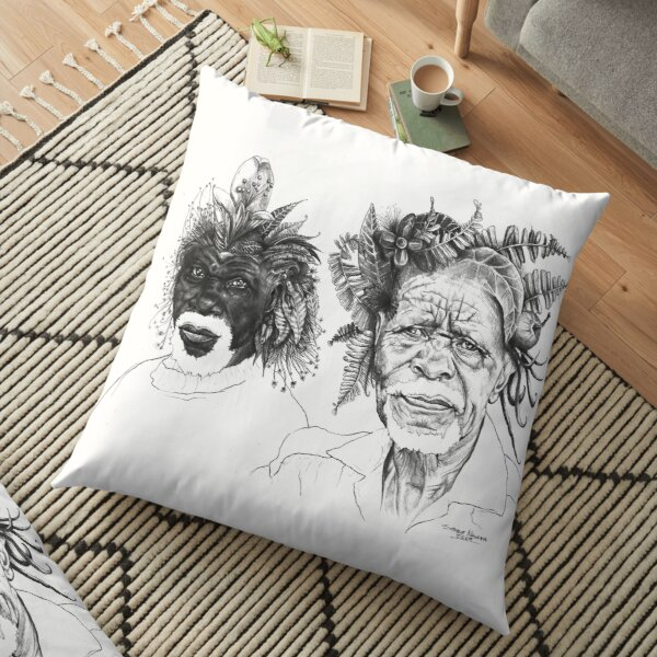 The Great Sunmen - By Siphiwe Ngwenya Floor Pillow