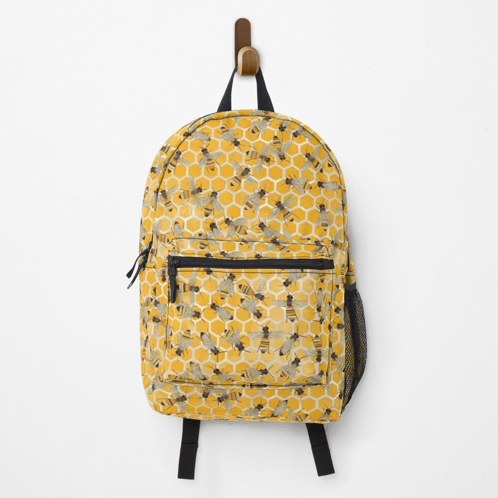 Bees on Honeycomb Backpack
