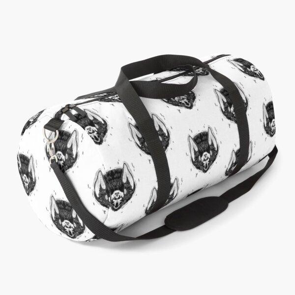 Bat Face -White Duffle Bag