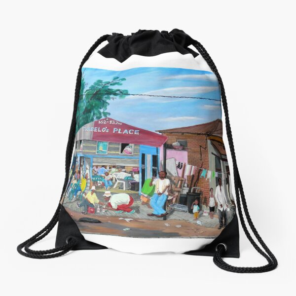 Tommy Machaba - Over at the Shebeen Drawstring Bag
