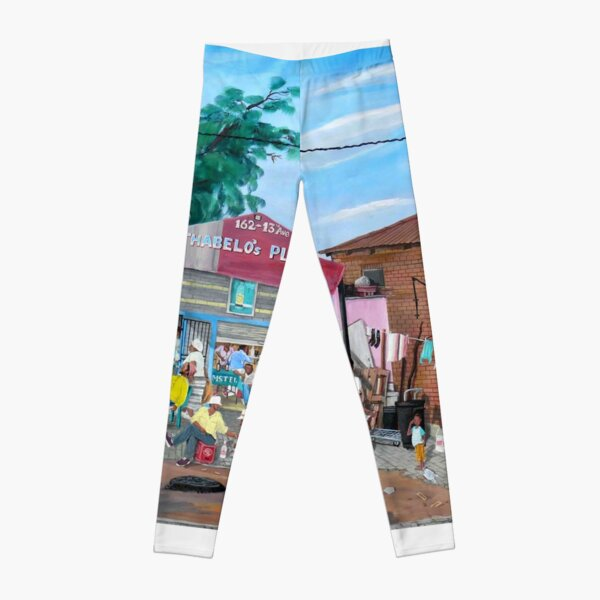 Tommy Machaba - Over at the Shebeen Leggings