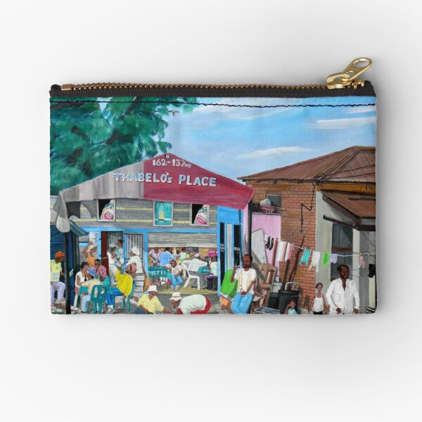 Tommy Machaba - Over at the Shebeen Zipper Pouch