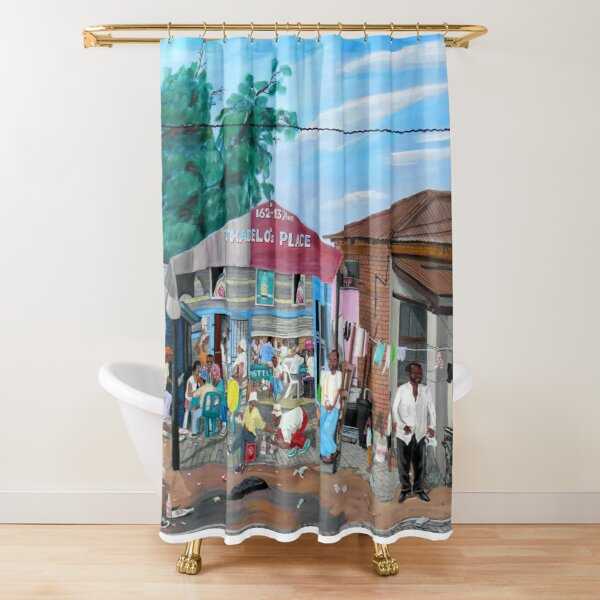 Tommy Machaba - Over at the Shebeen Shower Curtain