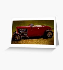 Red 32' Coupe Greeting Card
