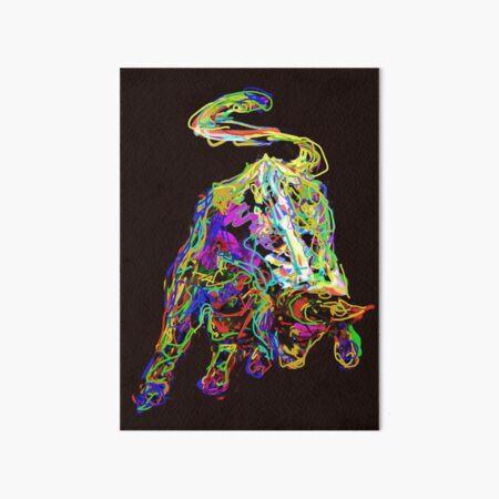 Stier auf schwarz  Galeriedruck