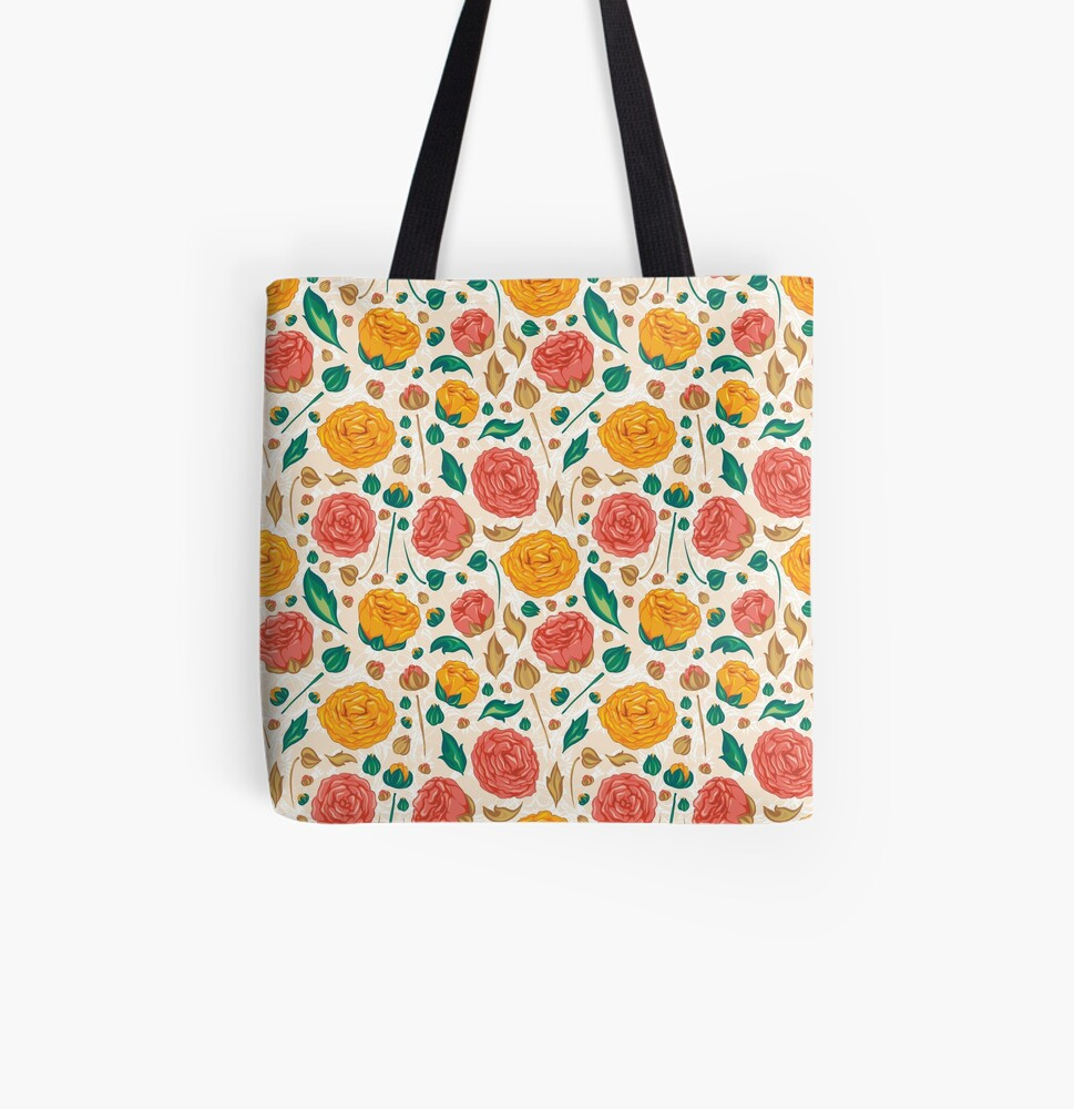 Floral pattern on Tote Bag
