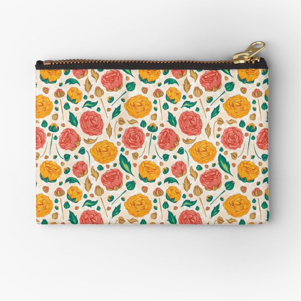 Floral pattern on Zipper Pouch