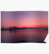Backwater Sunset Poster