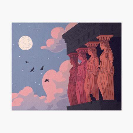 Caryatids at Dusk Art Board Print