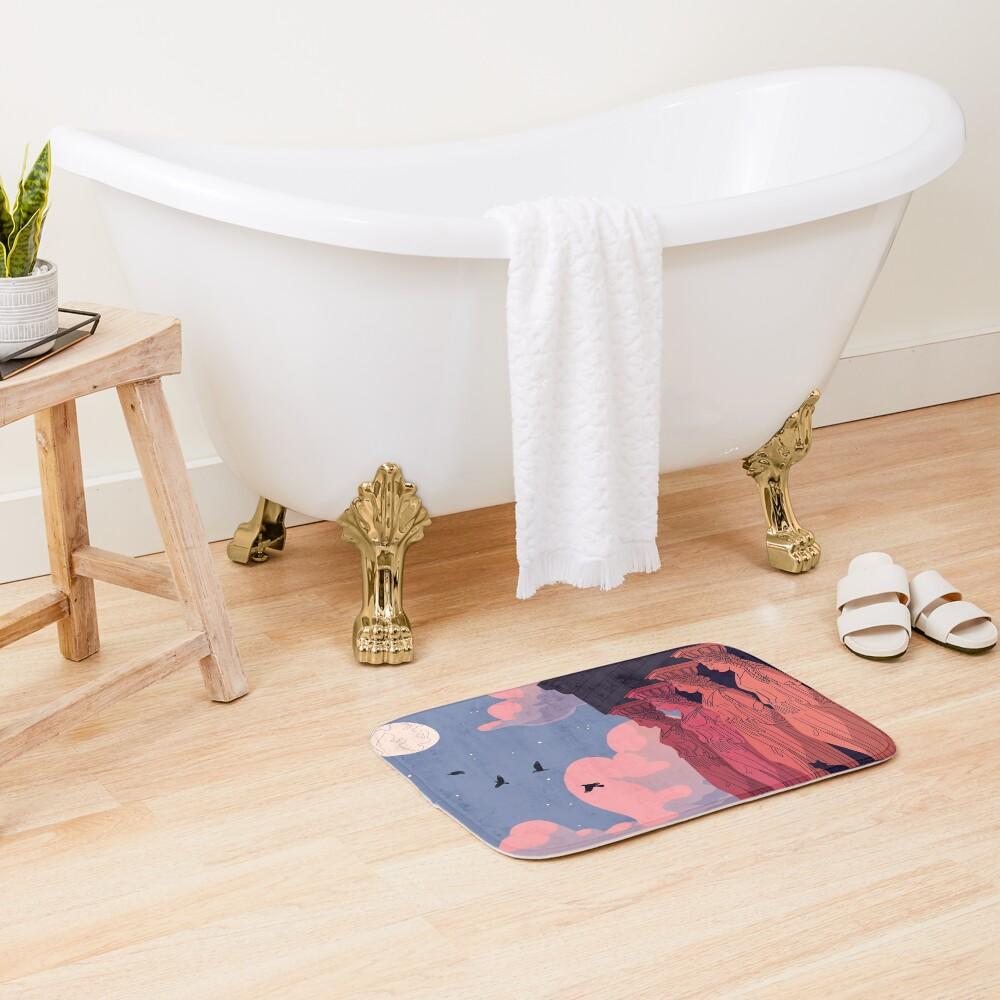 Caryatids at Dusk Bath Mat