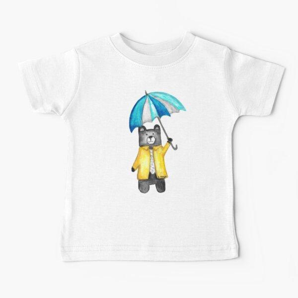 Bear in the Raincoat Watercolour Tatra Cottage Baby T-Shirt