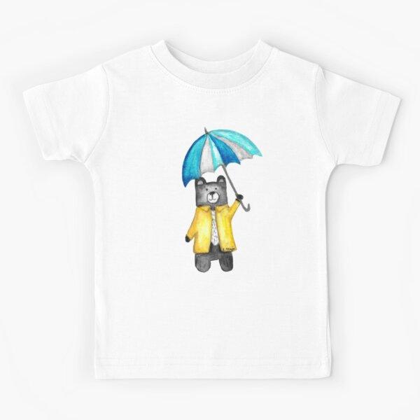 Bear in the Raincoat Watercolour Tatra Cottage Kids T-Shirt
