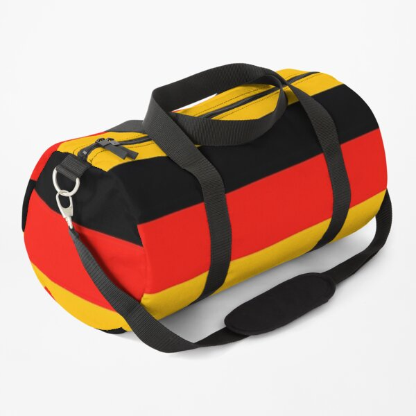 German National Flag On Shirts Bags And Gadgets Duffle Bag
