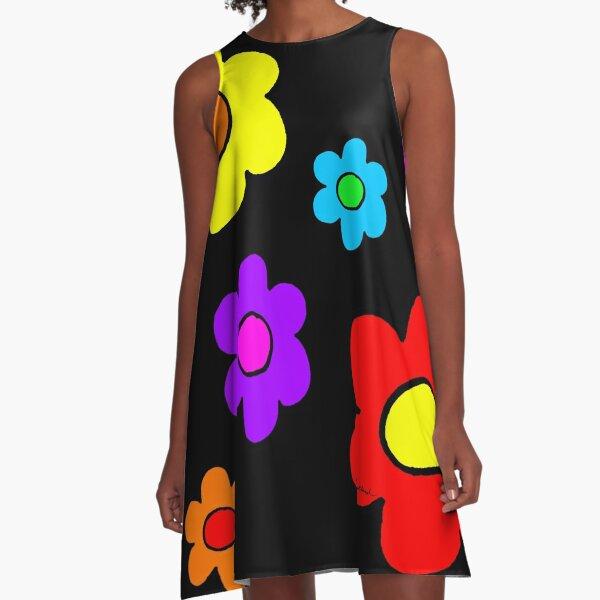 Pop Flowers A-Line Dress