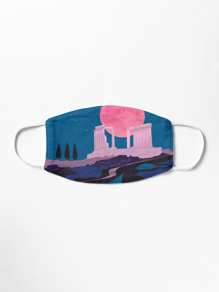 Alternate view of Temple of Poseidon at Sounion Mask