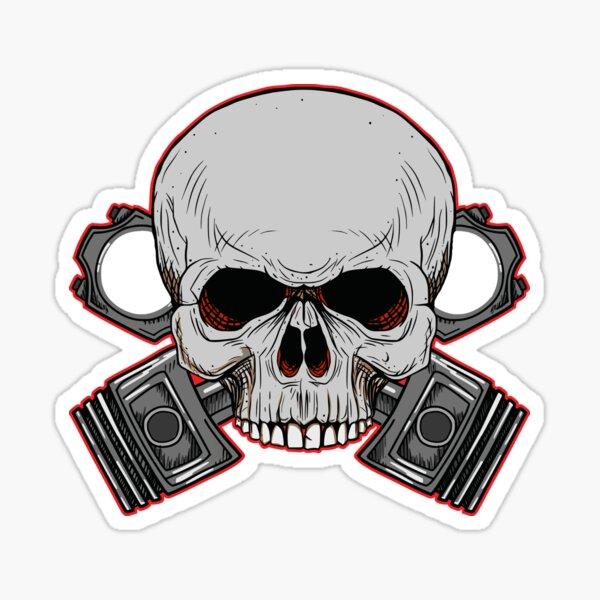 OSSA Pistons skull Sticker