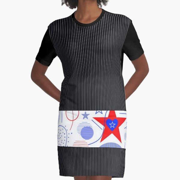 In RWB Style Graphic T-Shirt Dress